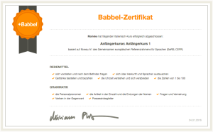 Babbel Zertifikat