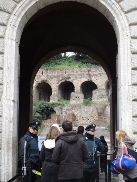 Eingang zum Palatino