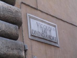 Das wäre meine Lieblingsadresse: Vicolo del divino amore <3