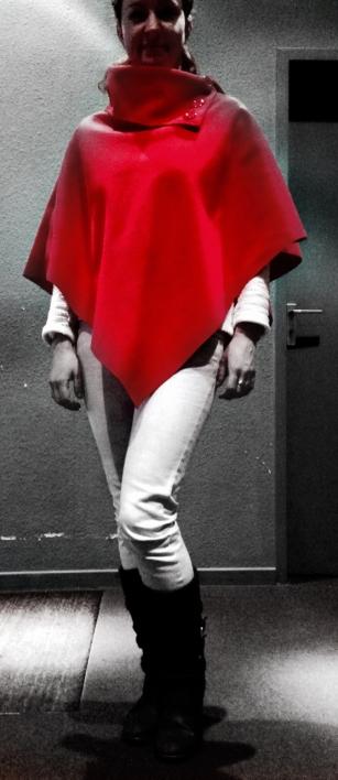 Roter Umhang