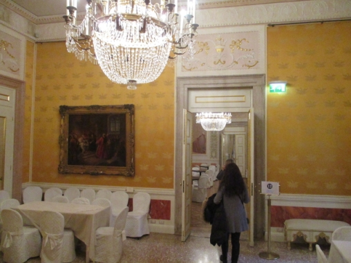 Der Verdi Saal. Als hier die Musik von La Traviata im Audioguide gespielt wurde liefen mir schon wieder die Tränen.
