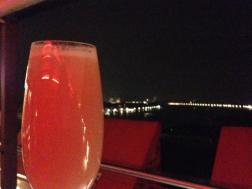 Bellini und fantastischer Blick nach Venezia (gut es war ziemlich kalt, aber egal)