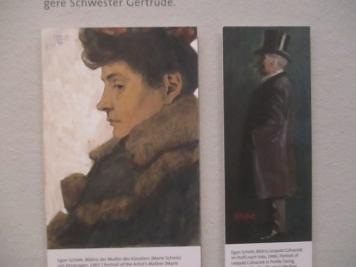 """Egon Schiele """"Bildnis der Mutter und des Onkels"""""""