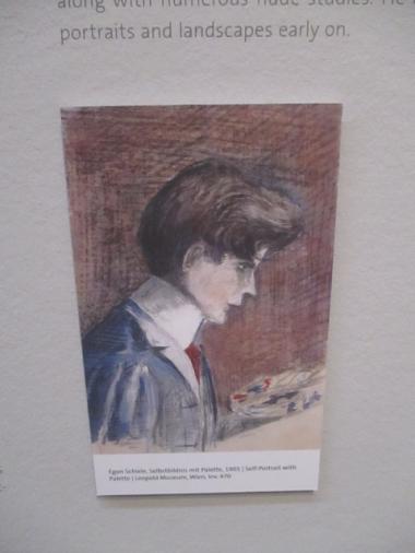 "Egon Schiele ""Selbstbildnis"""
