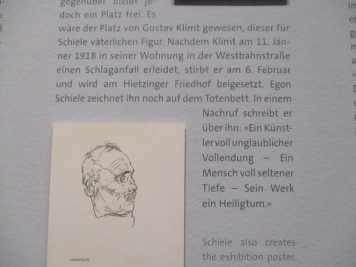 Schiele zeichnet Gustav Klimt auf seinem Totenbett