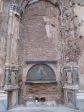 Ein Marienbild an einer Wand