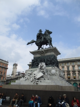 Monumento Equestre a Vittorio Emanuele II mit Löwe