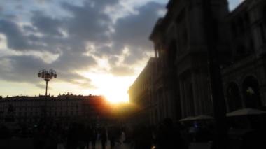 Die untergehende Sonne ...