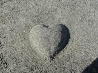 Ein Herz aus Sand