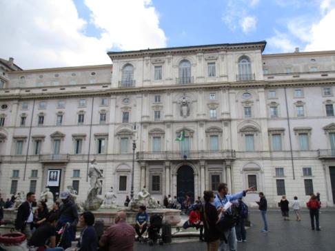 Fontana del Moro mit dem Palazzo Pamphili