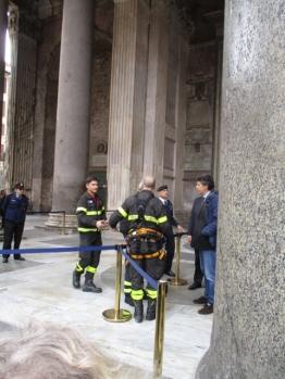 Die Feuerwehr bereitet sich auf ihren großen Auftritt vor