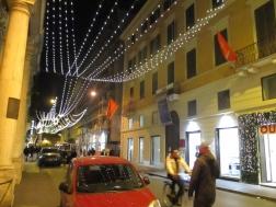 Von hier blickte Goethe auf die Via del Corso