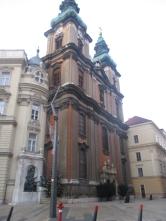 Egyetemi Templom am nächsten Morgen