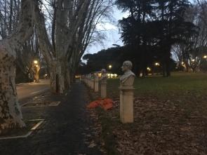 Büsten von Persönlichkeiten des italienischen Freiheitskampfes